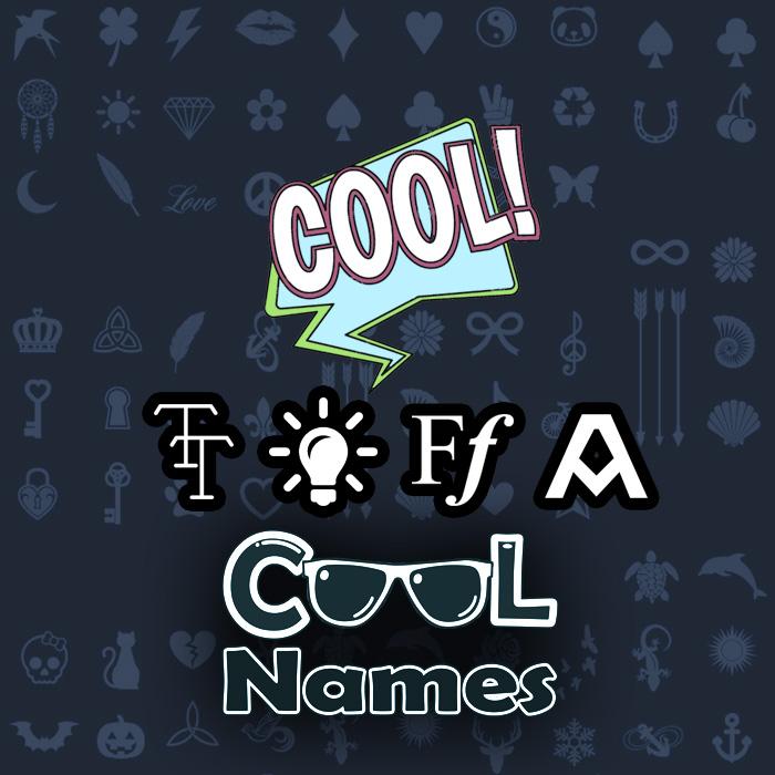 Tüm süslemeleri ve 😍 için karakterler Rswm - Dekorasyon Cool isimleri 😎